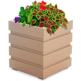 "Mayne® Freeport Patio Planter, 18""L x 18""W x 20""H, Square, Clay"