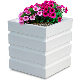 "Mayne® Freeport Patio Planter, 18""L x 18""W x 20""H, Square, White"