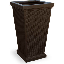"Mayne® Wellington Tall Planter, 16""L x 16""W x 28""H, Square, Espresso"