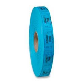 "MMF Industries™ ""Admit One"" Single Roll Ticket, 2000/Roll, Blue"