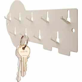 MMF STEELMASTER 9-Hook Decorative Key Rack 201400900 Putty by