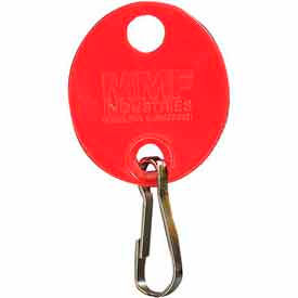 MMF Snap-Hook Oval Key Tags 201800907 Plain, Pack of 20 Tags, Red by