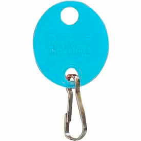 MMF Snap-Hook Oval Key Tags 201800908 Plain, Pack of 20 Tags, Blue by