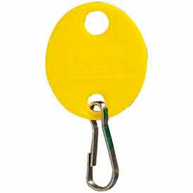 MMF Snap-Hook Oval Key Tags 201800912 Plain, Pack of 20 Tags, Yellow by