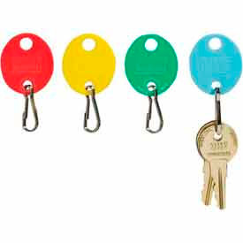 MMF Snap-Hook Oval Key Tags 2018009W47 Plain, Pack of 20 Tags, Assorted Colors by