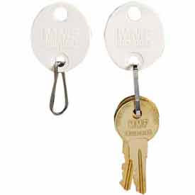 Click here to buy MMF Snap-Hook Oval Key Tags 5313260BB06 Tags 121-140, White.