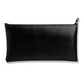 "MMF Wallet Bag With Zipper 2340416W04, Vinyl, 11"" x 6"", Black"