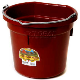 Little Giant Flat-Back Bucket P20fbburgundy, Duraflex Plastic, 20 Qt., Burgundy - Pkg Qty 12