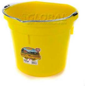 Little Giant Flat-Back Bucket P20fbyellow, Duraflex Plastic, 20 Qt., Yellow - Pkg Qty 12