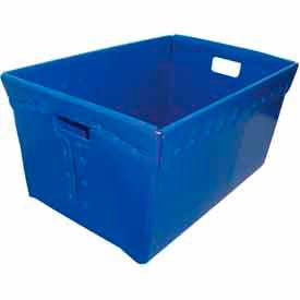 Corrugated Plastic Nestable Tote, 24x16x12, Blue (Min. Purchase Qty 72+)