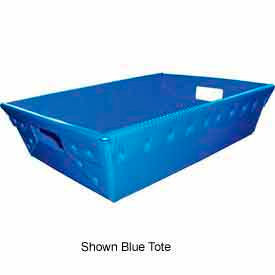 Corrugated Plastic Nestable Tote, 20x14x5, Red (Min. Purchase Qty 120+)