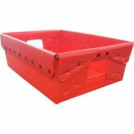 Corrugated Plastic Nestable Tote, 18-1/4x13-1/4x6, Red (Min. Purchase Qty 70+)
