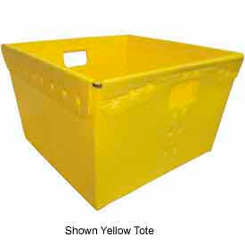 Corrugated Plastic Nestable Tote, 18-1/4x18-1/4x11-5/8 / Red (Min. Purchase Qty 96+)
