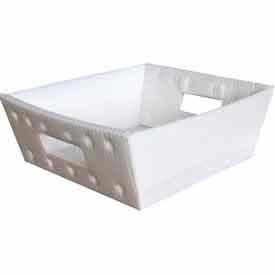 Corrugated Plastic Nestable Tray, 13x12x4-1/2, Gray (Min. Purchase Qty 76+)