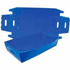 Corrugated Plastic Knockdown Tray, 24x12x4-1/2, Blue (Min. Purchase Qty 100+)