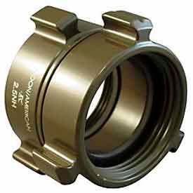 Aluminum 1 1//2 Female NH to 1 Male NH Fire Hose Adapter