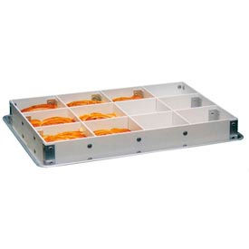 "Molded Fiberglass 12 Cells -2 Long,3 Short Dividers Pan Extender 176139-13""WX18""LX2-1/2""H,Pkg Qty 4 - Pkg Qty 4"