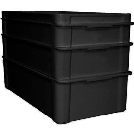 "Molded Fiberglass Fibrestat ESD Stacking Tote 808200, Top Overall -23-3/8""L x 12""W x 3-1/8H - Pkg Qty 3"