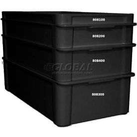 "Molded Fiberglass Fibrestat ESD Stacking Tote 808300, Top Overall -23-3/8""L x 12""W x 6""H - Pkg Qty 2"