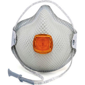 Moldex 2800N95 2800 Series N95 Particulate Respirators, HandyStrap& Ventex Valve, M/L, 10/Box