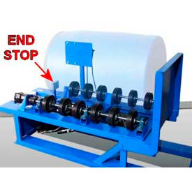 Roll Poly Drum on Morse® 456 Series with Extra Wheels & End Stop
