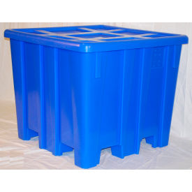 "MODRoto Bulk Container with Lid P433 - 28 Bushel 47-1/2""L x 47-1/2""W x 40-1/2""H Royal Blue"