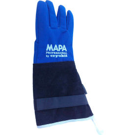"""MAPA® Cryoplus 2.0 Waterproof Cryogenic Gloves, Leather Safety Cuff, 15""""L, Size 9, CRYPLS203809"""
