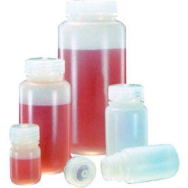 Thermo Scientific Nalgene™ Wide-Mouth HDPE Economy Bottles with Closure, 500mL, Case of 48