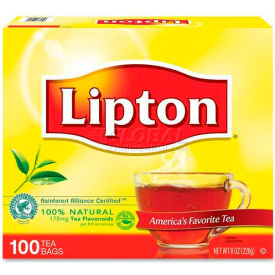 Lipton® Regular Tea, Tea, Single Cup Bags, 100/Box