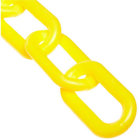 "2"" Heavy Duty Plastic Chain, 50 Feet, Yellow"
