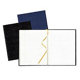 Hardbound Executive Notebook, College Rule, Bookmark, 11x8-1/2, 75 Sheets, Blue