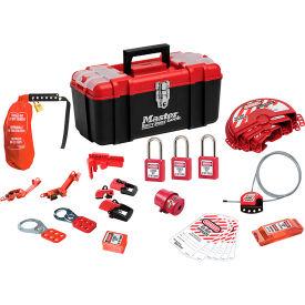 Master Lock® Personal Safety Lockout Kit, Valve & Electrical Focus, 1457VE410KA