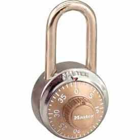 Master Lock® No. 1502LFGLD General Security Combo Padlock LF Shackle - Gold Dial