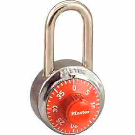 Master Lock® No. 1502LFORJ General Security Combo Padlock LF Shackle - Orange Dial
