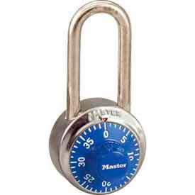 Master Lock® No. 1502LHBLU General Security Combo Padlock LH Shackle - Blue Dial
