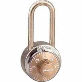 Master Lock® General Security Combo Padlock LH Shackle, Gold Dial
