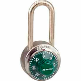 Master Lock® General Security Combo Padlock LH Shackle, Green Dial