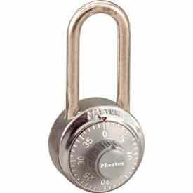 Master Lock® No. 1502LHGRY General Security Combo Padlock LH Shackle Grey Dial