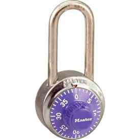 Master Lock® No. 1502LHPRP General Security Combo Padlock LH Shackle - Purple Dial