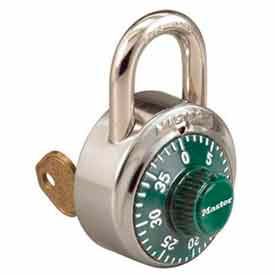 Master Lock® No. 1525GRN General Security Combo Padlock - Key Control - Green dial