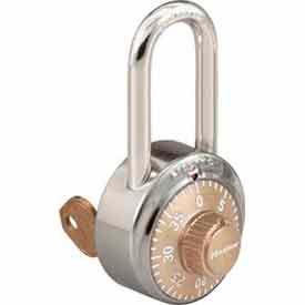 Master Lock® No. 1525LFGLD General Security Combo Padlock - Key Control - LF Shackle - Gold