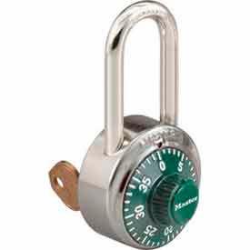 Master Lock® General Security Combo Padlock, Key Control, LF Shackle, Green