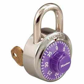 Master Lock® No. 1525PRP General Security Combo Padlock - Key Control - Purple dial