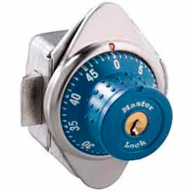 Master Lock® No. 1652MDBLU Built-In Combination Lock with long bolt - Blue Dial - Right Hinged