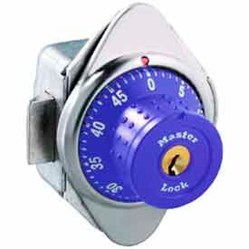 Master Lock® No. 1652MDPRP Built-In Combination Lock with Long Bolt - Purple - Right Hinged
