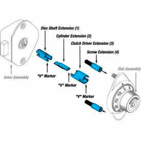 Master Lock® Extension Set For 1654, 1655, 1670 and 1671