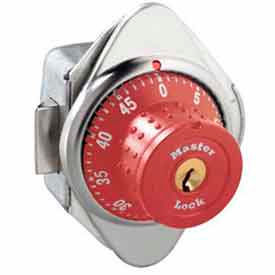 Master Lock® No. 1654MDRED Built-In Combo Lock for Horizontal Latch Box Locker - Red Dial - RH