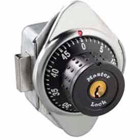 Master Lock® No. 1670MD Built-In Combination Deadbolt Lock - Metal Dial - Right Hinged