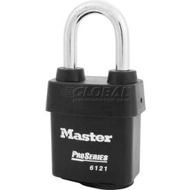 Master Lock® High Security Steel Weather Resistant Covered Laminated Padlocks-No. 6121kalf - Pkg Qty 24