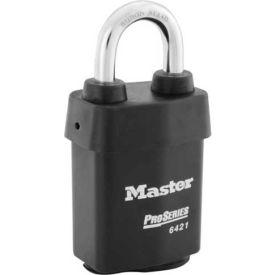 "Master Lock® ProSeries® Solid Steel IC Padlock, 2-1/8""W, No. 6421WO - Pkg Qty 6"